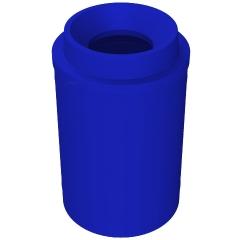55 Gallon Blue Trash Receptacle, Funnel Top 11.5