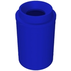 """55 Gallon Blue Trash Receptacle, Funnel Top 11.5"""" Opening"""