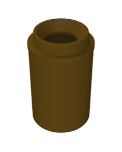 """55 Gallon Brown Trash Receptacle, Funnel Top 11.5"""" Opening"""