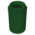 """55 Gallon Green Trash Receptacle, Funnel Top 11.5"""" Opening"""
