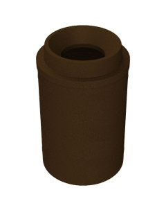 "55 Gallon Brown Granite Trash Receptacle, Funnel Top 11.5"" Opening"
