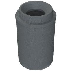 """55 Gallon Dark Granite Trash Receptacle, Funnel Top 11.5"""" Opening"""