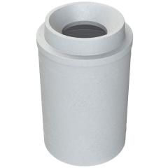 "55 Gallon Light Granite Trash Receptacle, Funnel Top 11.5"" Opening"