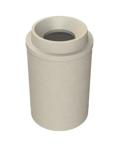 "55 Gallon Beige Granite Trash Receptacle, Funnel Top 11.5"" Opening"