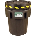 95 Gallon Recycled Plastic Salvage Overpack Drum with Screw On Lid, UN Rated