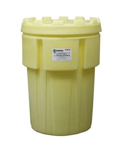 103 Gallon Yellow Overpack Plastic Drum w/Screw On Lid, UN Rated