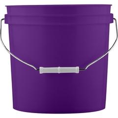 2 Gallon Purple Plastic Pail with Metal Handle (P5 Series)