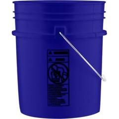 5 Gallon Reflex Blue Plastic Pail (90 mil) with Metal Handle (P5 Series)
