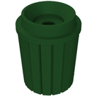 """42 Gallon Green Slatted Recycling Receptacle, Funnel Top 5"""" Opening"""
