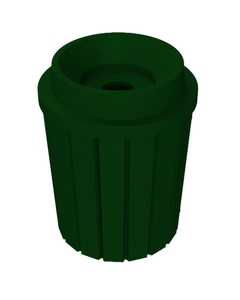 """42 Gallon Green Granite Slatted Recycling Receptacle, Funnel Top 5"""" Opening"""