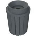 """42 Gallon Dark Granite Slatted Recycling Receptacle, Funnel Top 5"""" Opening"""