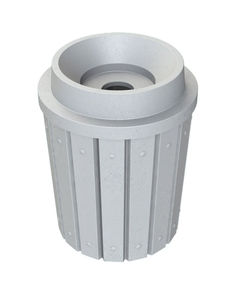 """42 Gallon Light Granite Slatted Recycling Receptacle, Funnel Top 5"""" Opening"""