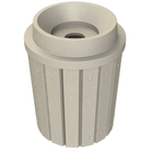 """42 Gallon Beige Granite Slatted Recycling Receptacle, Funnel Top 5"""" Opening"""