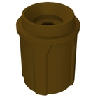 """42 Gallon Brown Recycling Receptacle, Funnel Top 5"""" Opening"""