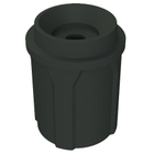 """42 Gallon Black Recycling Receptacle, Funnel Top 5"""" Opening"""