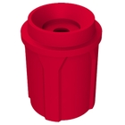 """42 Gallon Red Recycling Receptacle, Funnel Top 5"""" Opening"""
