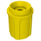 """42 Gallon Yellow Recycling Receptacle, Funnel Top 5"""" Opening"""