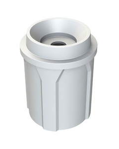 """42 Gallon White Recycling Receptacle, Funnel Top 5"""" Opening"""