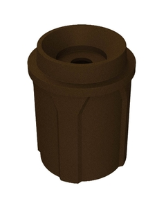 """42 Gallon Brown Granite Recycling Receptacle, Funnel Top 5"""" Opening"""