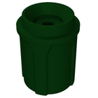 """42 Gallon Green Granite Recycling Receptacle, Funnel Top 5"""" Opening"""