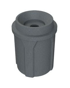 """42 Gallon Dark Granite Recycling Receptacle, Funnel Top 5"""" Opening"""