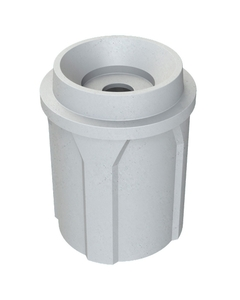"""42 Gallon Light Granite Recycling Receptacle, Funnel Top 5"""" Opening"""