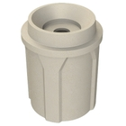 """42 Gallon Beige Granite Recycling Receptacle, Funnel Top 5"""" Opening"""