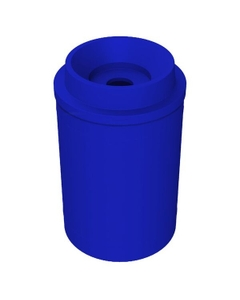 """55 Gallon Blue Recycling Receptacle, Funnel Top 5"""" Opening"""