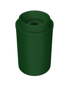 """55 Gallon Green Recycling Receptacle, Funnel Top 5"""" Opening"""