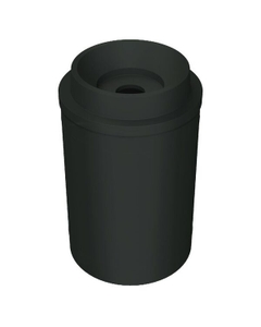 """55 Gallon Black Recycling Receptacle, Funnel Top 5"""" Opening"""