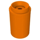"""55 Gallon Orange Recycling Receptacle, Funnel Top 5"""" Opening"""
