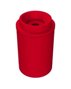 """55 Gallon Red Recycling Receptacle, Funnel Top 5"""" Opening"""