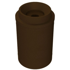 """55 Gallon Brown Granite Recycling Receptacle, Funnel Top 5"""" Opening"""