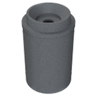 """55 Gallon Dark Granite Recycling Receptacle, Funnel Top 5"""" Opening"""