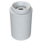 """55 Gallon Light Granite Recycling Receptacle, Funnel Top 5"""" Opening"""