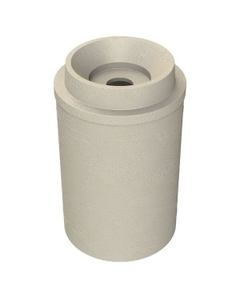 """55 Gallon Beige Granite Recycling Receptacle, Funnel Top 5"""" Opening"""