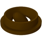 55 Gallon Drum Brown Plastic Funnel Top Bug Barrier Trash Receptacle Lid
