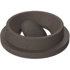 55 Gallon Drum Brown Granite Plastic Funnel Top Bug Barrier Trash Receptacle Lid