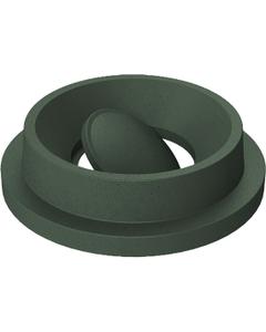 55 Gallon Drum Green Granite Plastic Funnel Top Bug Barrier Trash Receptacle Lid