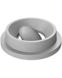 55 Gallon Drum Light Granite Plastic Funnel Top Bug Barrier Trash Receptacle Lid