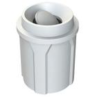 42 Gallon White Trash Receptacle, Funnel Top Bug Barrier Lid