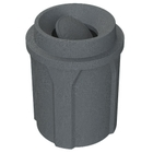 42 Gallon Dark Granite Trash Receptacle, Funnel Top Bug Barrier