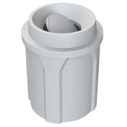 42 Gallon Light Granite Trash Receptacle, Funnel Top Bug Barrier Lid