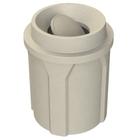 42 Gallon Beige Granite Trash Receptacle, Funnel Top Bug Barrier Lid