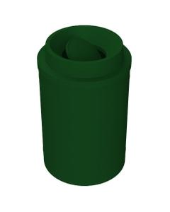 55 Gallon Green Trash Receptacle, Funnel Top Bug Barrier Li