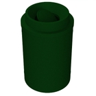 55 Gallon Green Granite Trash Receptacle, Funnel Top Bug Barrier Lid