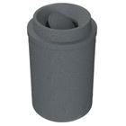 55 Gallon Dark Granite Trash Receptacle, Funnel Top Bug Barrier Lid