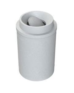 55 Gallon Light Granite Trash Receptacle, Funnel Top Bug Barrier Lid