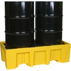 2-Drum Yellow Spill Containment Pallet, w/Drain
