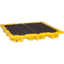 4-Drum Nestable Spill Containment Pallet (With Drain) - Eagle 1646